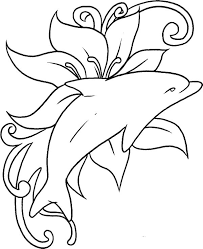 coloring outstanding dolphin color sheet free printable