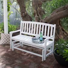 Glider Porch Furniture Inexpensive Solid White Metal Porch Glider Ideas