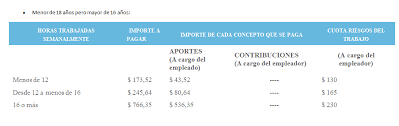 valores servicio domestico 2016 argentina nuevos importes 2018 contribuciones y aportes previsionales y de