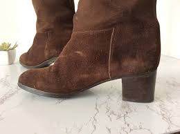 womens boots the knee high knee boots brown boots vintage boots