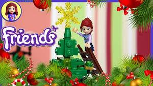 lego friends build big christmas tree play kids toys youtube