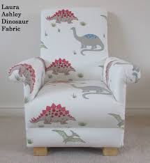 Childrens Faux Leather Armchair Laura Ashley Dinosaur Fabric Child U0027s Chair Nursery Bedroom