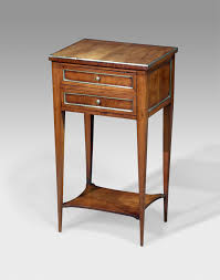 pretty 19th century french brass banded cherry wood night table