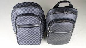 how to spot a fake louis vuitton backpack real vs fake youtube