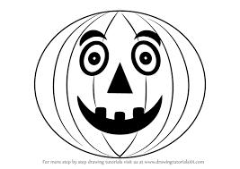 learn draw halloween pumpkin kids halloween step
