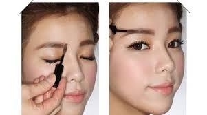 tutorial alis mata untuk wajah bulat alis untuk wajah bulat mata sipit