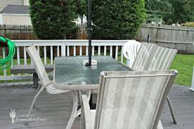 outdated patio set rustic makeover hometalk