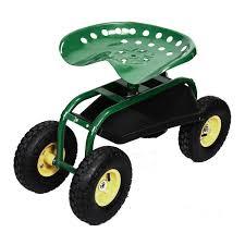 amazon com rolling garden cart work seat with heavy duty tool