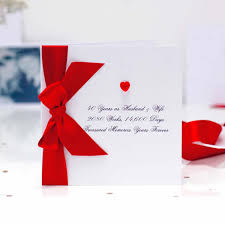 handmade ruby wedding anniversary cards with the luxury touch for