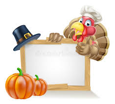 thanksgiving sign chef turkey thanksgiving sign stock vector illustration of alive