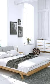 Modern Bedroom Featuring The Mikkel Bed And Dresser Set From Kure - Elegant non toxic bedroom furniture residence