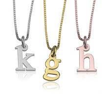 initial necklaces for personalized gold silver initial necklaces