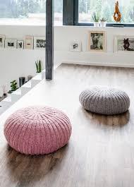 Floor Pouf by Lana Grossa Floor Pouf Ambiente Filati Handstrick No 62 Home