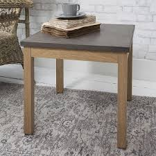 Concrete Side Table Hudson Living Detroit Oak Concrete Side Table Concrete