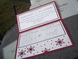 wedding invitations red and silver winter holiday wedding invitations cranberry black white