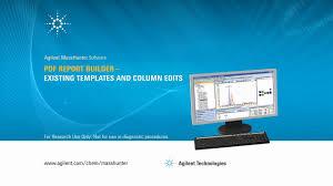 report builder templates pdf report builder existing templates and column edits