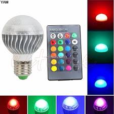 color changing light bulb with remote e27 15w rgb led l color changing light bulb with remote control