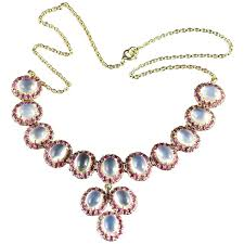 silver necklace ruby images Victorian ruby diamond silver gold floral motif necklace for sale jpg