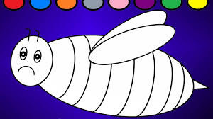 bee party lerarn colors for children bee coloring page youtube