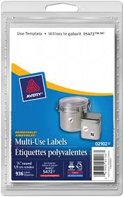 avery 02102 multi use removable labels 3 4