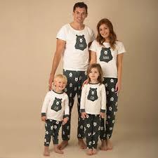 pyjamas matching family pjs nightwear