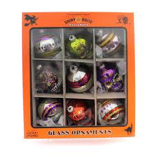 christopher radko rounds and skulls halloween halloween glass
