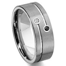 mens wedding bands with diamonds tao tungsten carbide black white diamond wedding band ring