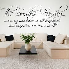 quotes wall stickers iconwallstickers co uk family name personalised family friends quotes wall sticker home art decals