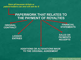 how to account for royalty payments 12 steps with pictures
