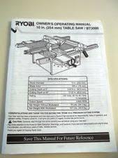 Ryobi Table Saw Manual Ryobi Power Table Saws Ebay