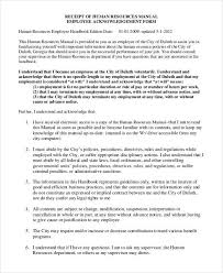 100 employee handbook template for small business employee
