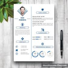 simple creative resumes clean resume template with photo cover from wordresume on etsy