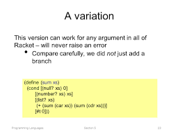 programming languages section 5 racket ppt video online download