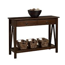 amazon com linon home decor titian antique console table kitchen
