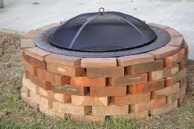 How To Build A Square Brick Fire Pit - fire pit best red brick fire pit ideas red brick fire pits