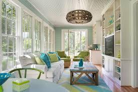 Sunroom Sofa White Sunroom Sunroom Beach Style With Green Club Chairs