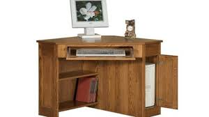 Small Oak Computer Desk Solid Wood Corner Desk Stylish Small Home Executive Throughout