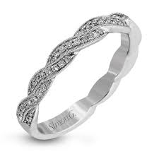 custom wedding ring 18k white gold twisted design diamond wedding band fabled collection