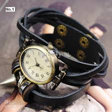 bracelet leather watches images Vintage ladies womens genuine leather band cuff hemp bracelet jpg