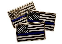 Subdued American Flag With Thin Blue Line Pack Of Thin Blue Line American Flag Police Support Lapel Pins Tie