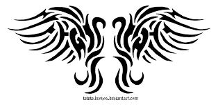 tribal wing design by krovos on deviantart