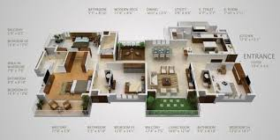 4 bedroom 1 story house plans intricate 1 4 bedroom story house plans 3d apartmenthouse modern hd