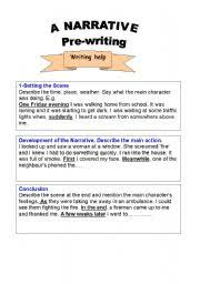 esl worksheets for adults narrative writing text