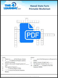 free printable hawaii state facts crossword time4learning