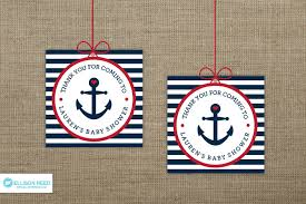 Nautical Theme Baby Shower Decorations - nautical baby shower favor tag anchor printable party