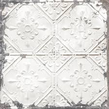 Self Stick Wallpaper by Vintage Tin Tile Peel And Stick Wallpaper Sample White U0026 Off