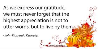 fitzgerald kennedy thanksgiving quote quotes