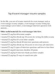 Account Planner Cover Letter Event Planner Resume Example Event Manager Cover Letter Sample