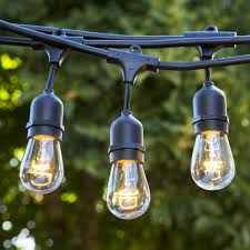 Mason Jar Patio Lights by 48 Ft Incandescent Patio Lights Ul Listed 15 Hanging Sockets