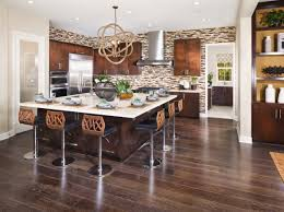 cool kitchen design ideas with dining room for large spaces